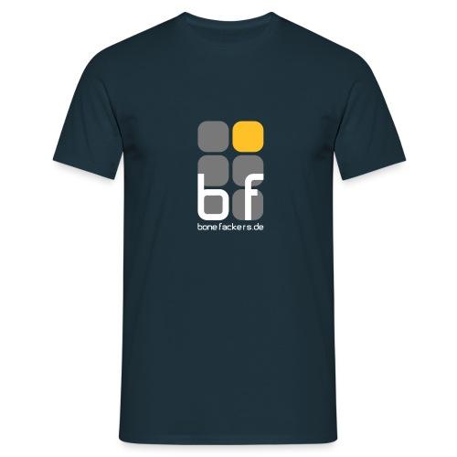 Brustaufdruck navy - Männer T-Shirt