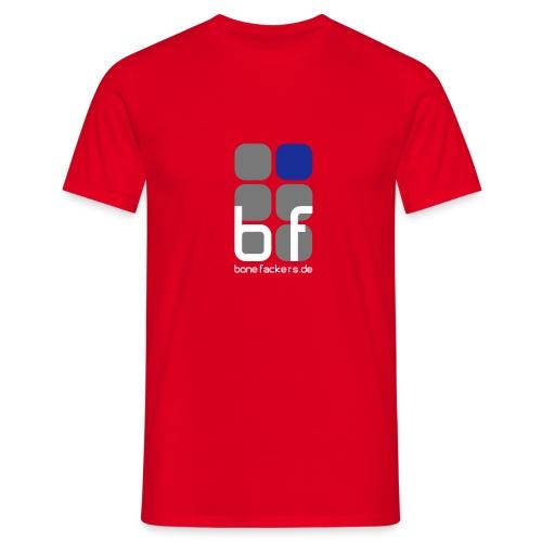 Brustaufdruck rot - Männer T-Shirt