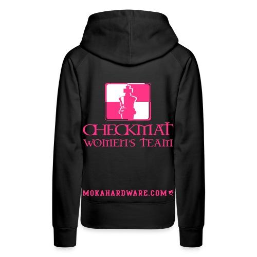 Arte Suave/CheckMat Womens Team Hoodie Black - Dame Premium hættetrøje