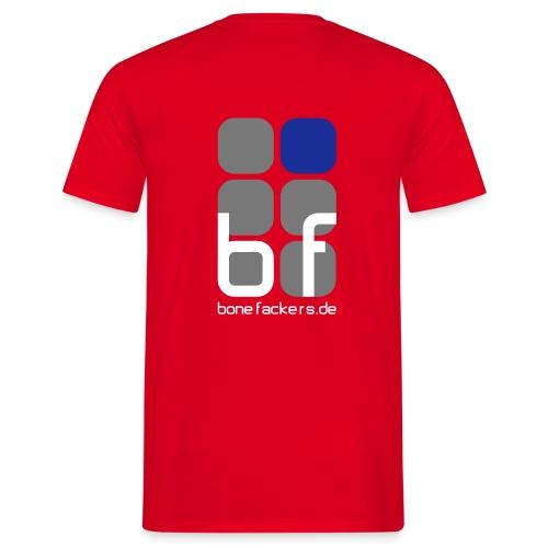 Rückenaufdruck rot - Männer T-Shirt