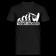 Tee shirts ~ Tee shirt Homme ~ Evolution Noir Blanc Homme