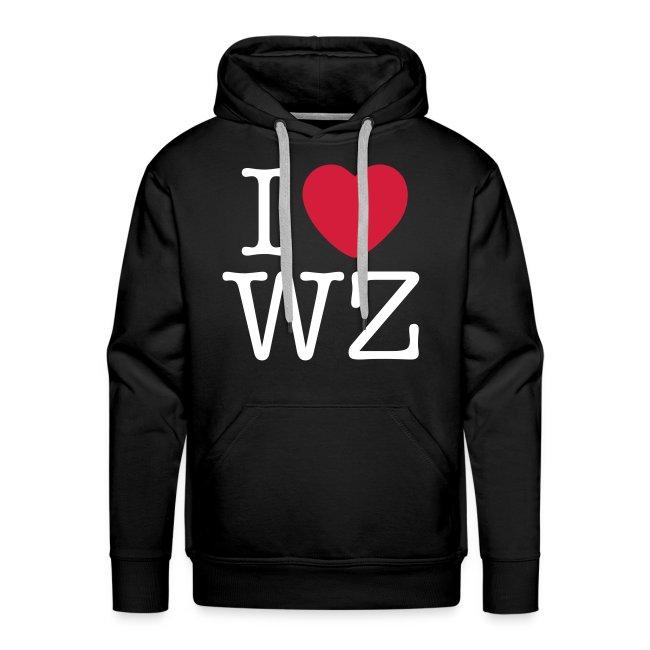 I LOVE WZ Kapuzenpullover schwarz