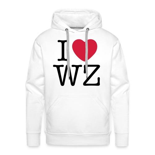 I LOVE WZ Kapuzenpullover weiß - Männer Premium Hoodie