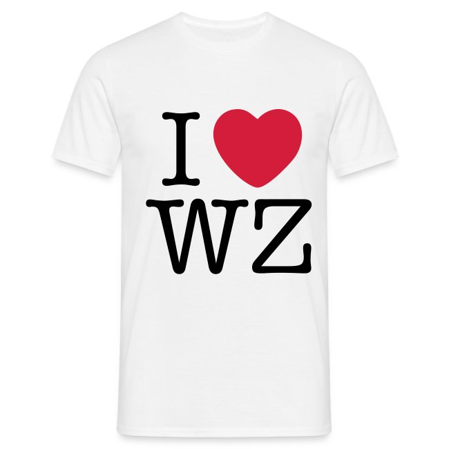 I LOVE WZ T-Shirt weiß