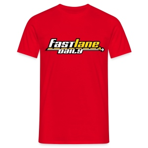 Fast Lane Daily logo T-Shirt - Men's T-Shirt
