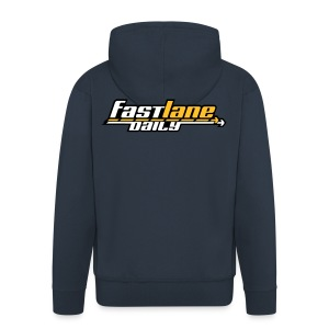 Fast Lane Daily logo Hooded Jacket - Men's Premium Hooded Jacket