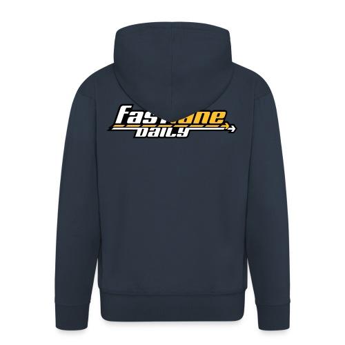 Fast Lane Daily logo Hooded Jacket - Men's Premium Hooded Jacket