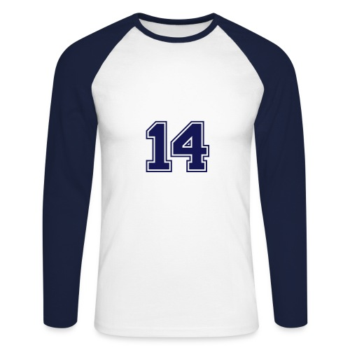 This my number luck - Men's Long Sleeve Baseball T-Shirt