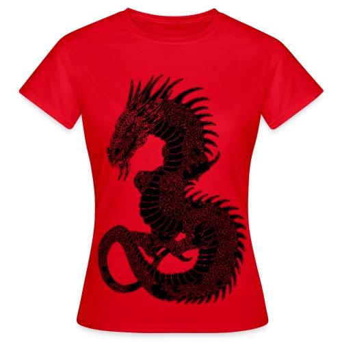 T shirt femme dragon - T-shirt Femme