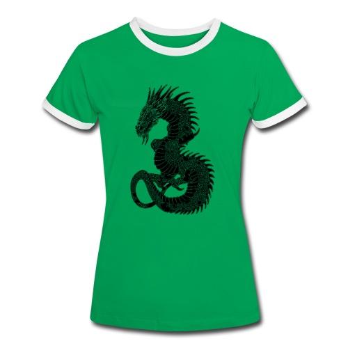 T shirt femme dragon - T-shirt contrasté Femme