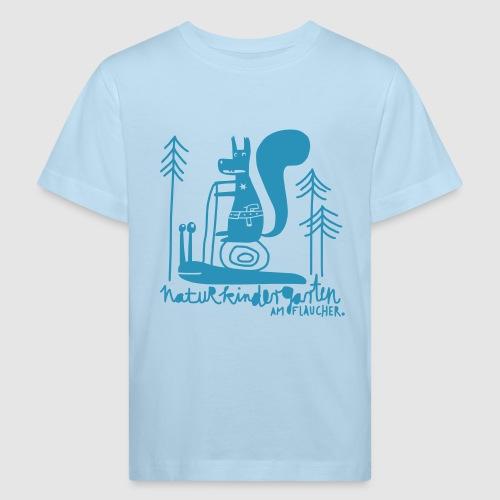 Kinder-Shirt farbig mit Eichhörnchen - Kinder Bio-T-Shirt