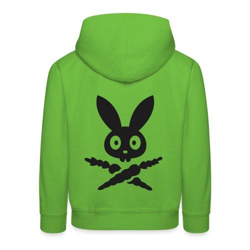 Dark Skully Bunny - Framboise / Noir - Pull à capuche Premium Enfant
