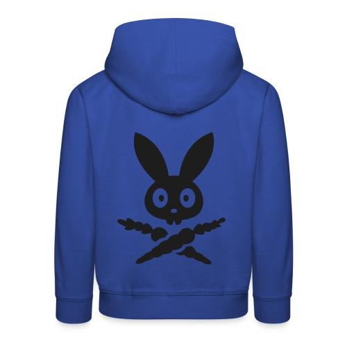 Dark Skully Bunny - Bleu / Noir - Pull à capuche Premium Enfant