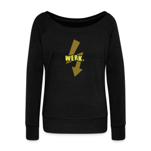 Werk-Yellow/Gold - Women's Boat Neck Long Sleeve Top