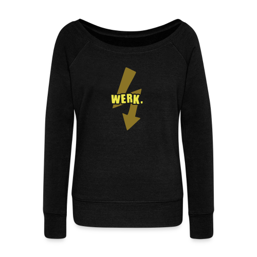 Werk-Yellow/Gold - Women's Boat Neck Long Sleeve Top
