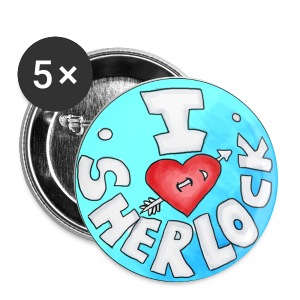 Button - I love SHERLOCK - Buttons mittel 32 mm
