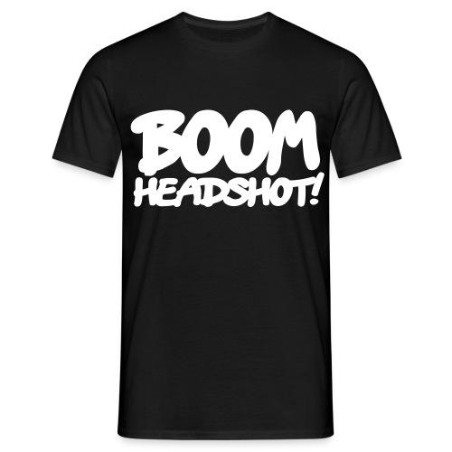 Headshot [Schwarz] - Männer T-Shirt