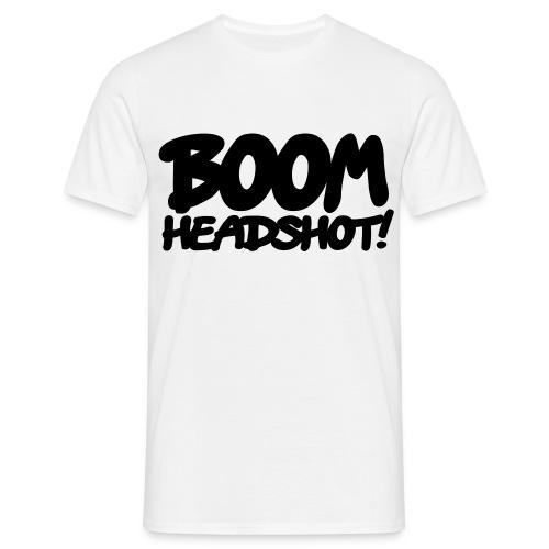 Headshot [Weiß] - Männer T-Shirt