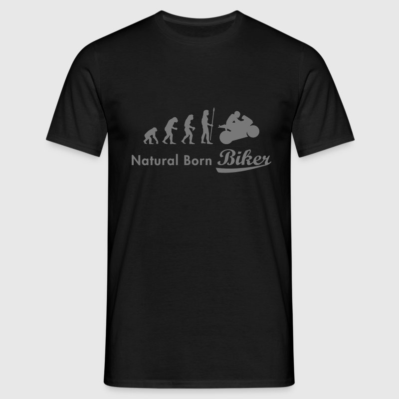 evolution_biker T-shirts - Mannen T-shirt