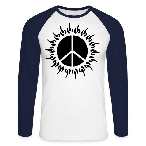 Peace sun on a long sleeve shirt - Men's Long Sleeve Baseball T-Shirt
