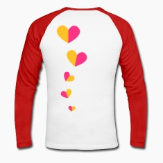 5 half hearts in a line down funky! Long sleeve shirts