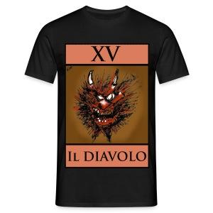 Tarot, Black T Shirt - The Devil XV - Men's T-Shirt
