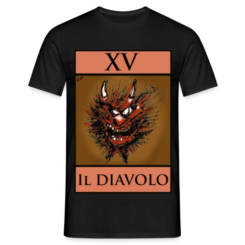 Tarot, Black T Shirt - The Devil XV - Men's T-Shirt