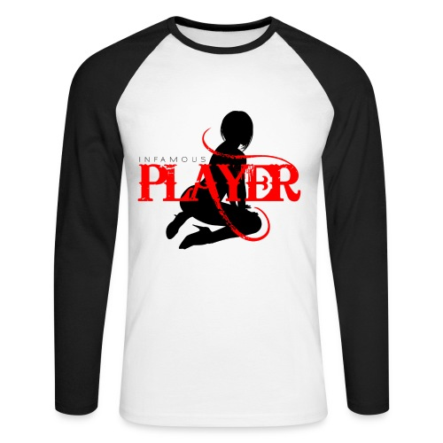 Infamous Player Raglan 09 - Men's Long Sleeve Baseball T-Shirt