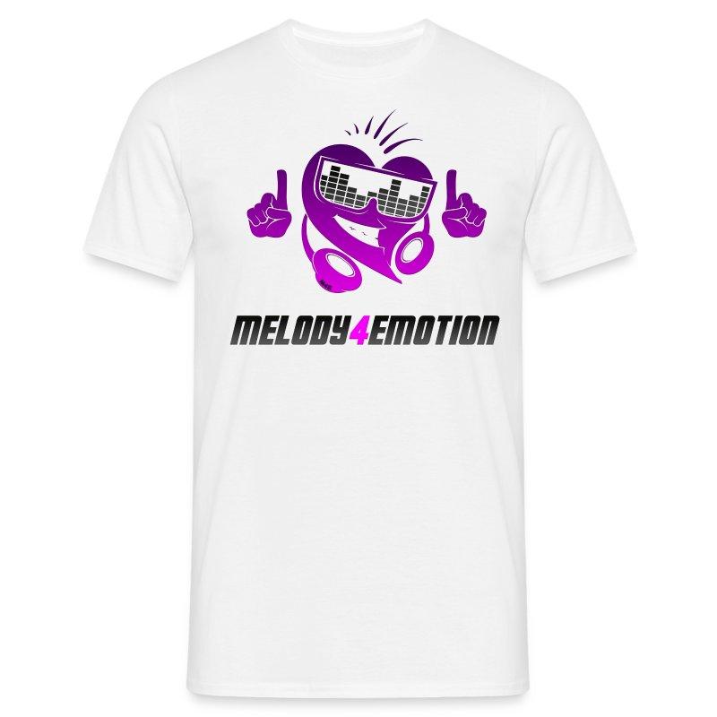 m4e_logo_pinklila_gerendert_schriftzug - Männer T-Shirt