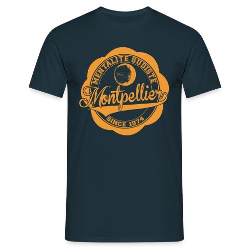 MENTALITE SUDISTE / logo orange / (marine) - T-shirt Homme