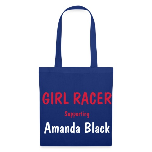 Blue Girl Racer Bag - Tote Bag