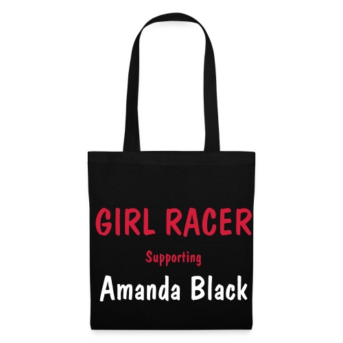 Black Girl Racer Bag - Tote Bag