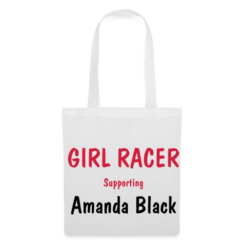 White Girl Racer Bag - Tote Bag
