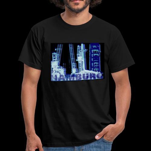 Hamburger Hafen Künstler-Motiv - Männer T-Shirt