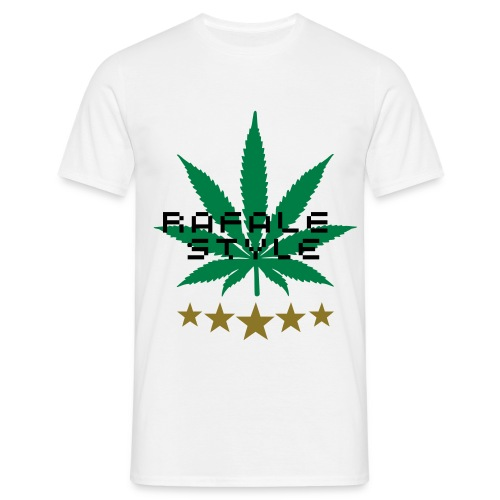 TEE SHIRT RAFALE STYLE HOMME BLANC - T-shirt Homme