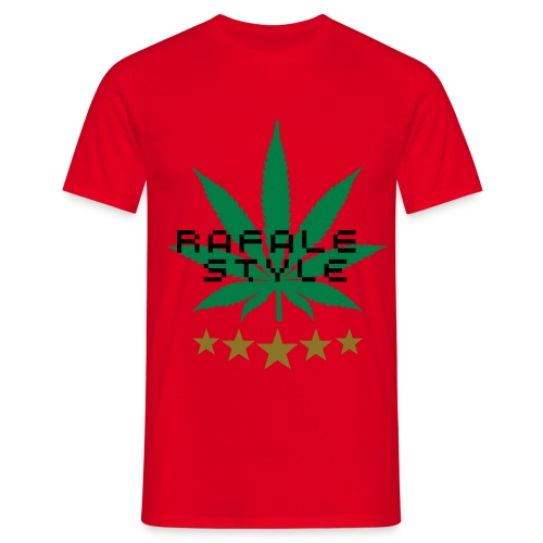 TEE SHIRT RAFALE STYLE HOMME ROUGE - T-shirt Homme
