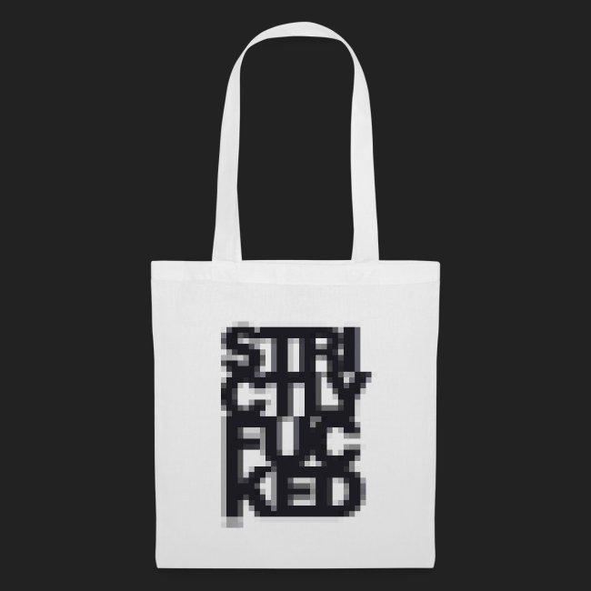 No. 1 Pixel Stoffbeutel - Black
