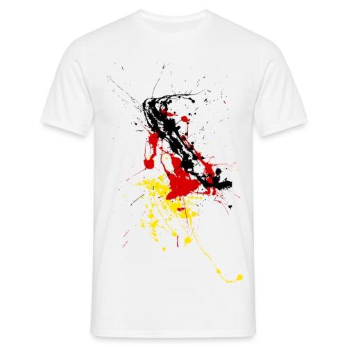 Deutschlandshirt Farbspritzer - Männer T-Shirt