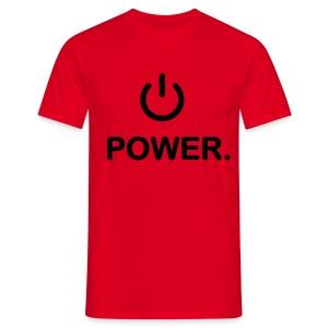 Mannen t-shirt klassiek (Power) - Mannen T-shirt