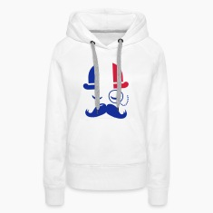 France fashionable retro iconic gentleman with flag | sports | football | Moustache Tröjor