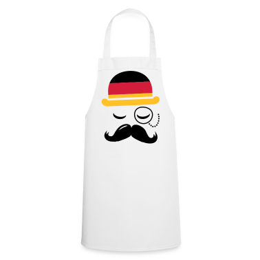 Germany fashionable retro iconic gentleman with flag and Moustache | sports | olympics | football |   Aprons