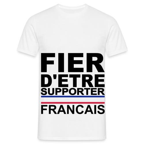 Tee shirt classique Homme Fier d'être Supporter français - T-shirt Homme