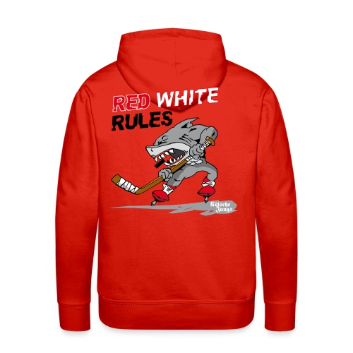 Red White Rules - Männer Premium Hoodie