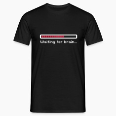 Waiting for brain (loading bar) / Funny humor Magliette