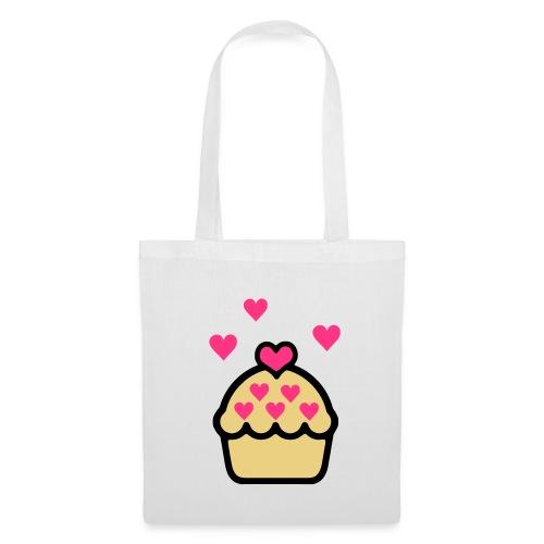 Dark Cupcake - Blanc / Rose - Tote Bag