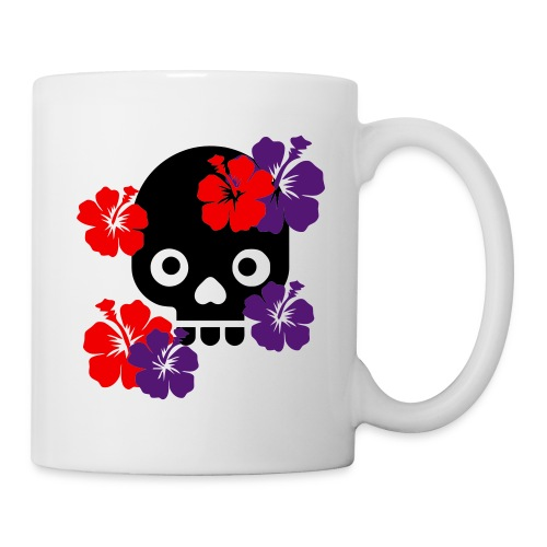 Dark Beauty Skull  - Blanc - Mug blanc
