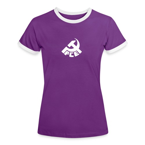 Camiseta PCE Morada - Camiseta contraste mujer