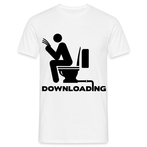Downloading - Mannen T-shirt