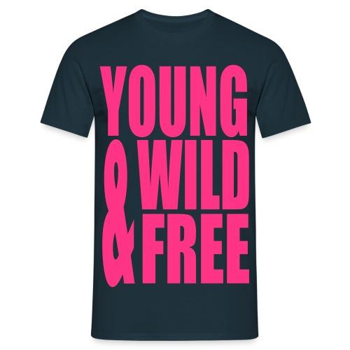 Mannen T-shirt klassiek (Young wild free) - Mannen T-shirt