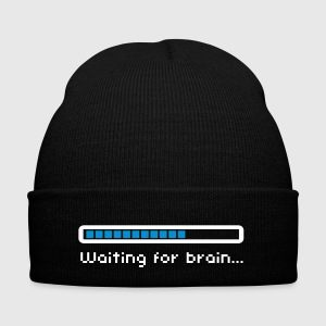 Waiting for brain (loading bar) / Funny humor Casquettes et bonnets - Bonnet d'hiver